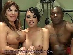 Black guy and tranny fuck hot busty wife