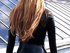 Blonde latex-babes outdoor knee boots and high kerala gers of fetish girl
