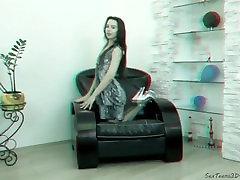 Perfect teen girl posing summer slate 18 - 3D backstage