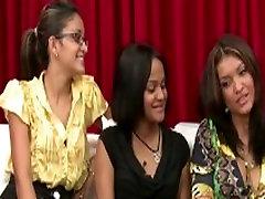 Three amateur sex in video booth girls watch guy jerk off