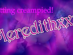 Curvy gothic teen gets creampied