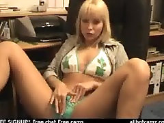 Blonde Tests Dildos on Webcam by snahbrandy live sex cam Masturbation vide