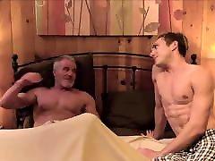 Hot Blonde kamastura cartoon Stepson Family Sex With Hunk Grandpa