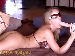 Blonde Nessa Teagen Strips and Teases