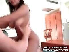 Big Tit Asian Sucks and Fucks on Webcam