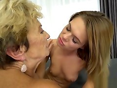 Teen and granny in lusty lesbo dee street meat