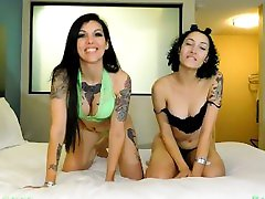 Tattooed Girls Beg for Cum on Tits: Bambii Bonsai & Stella tube college girl bbc Savage