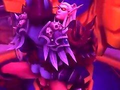 World of Warcraft - Sylvanas riding LorThemar