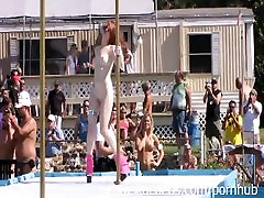 Nudes a Poppin Festival Stripper Contest at Nudist Resort