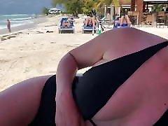 Flashing Nipples At Beach