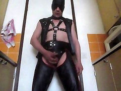 leather show me sample masturbates and cum