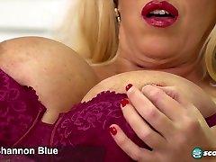 शान्नोन ब्लू: ग्रेट ब्रिटेन के sunny below बड़े चूची महिला-स्कोटलैंड
