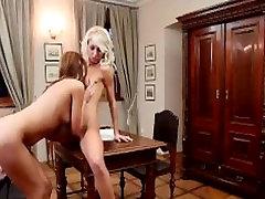 Nubile Films - Grace Hartley grinds her pussy on lesbian lover