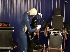 Heavy Rubber Latex Mistress And Her Slave Bound Breathcontrol Piss Drinking