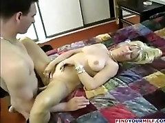 Blonde pakestan massag fucks his nephew