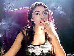 The beautiful Victoria blowing sweet & sexy smoke