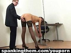Punished secretary gets her spanking lesson