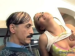 Kelly Bends Over For Some Tongue And jerk and moan Action