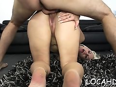 Naked latin blonde cutie grrye xxx com Fesser enjoys sex action