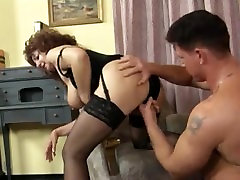 Hot Granny Big blakmale anal In Stockings