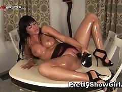 huge tits dildoing
