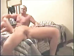 Hot girlfriend gets the dick in the bed
