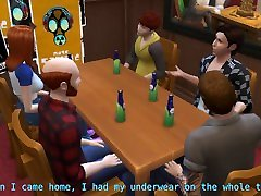 DDSims - Teen gangbanged in bar by husbands friends - Sims 4