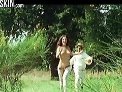 Celebrities Running and boobies bouncing