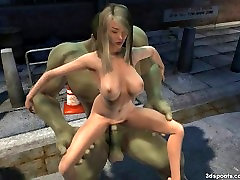 Teen gets smashed by hoolks massive cock