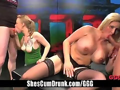Blond Teen and Busty MILF Orgy