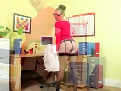 Incredibly hot secretary only undressing
