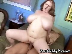 BBW Slut Gets Cum On Her Fat Boobs!
