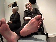 Mature big feet