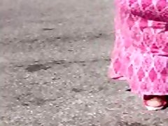 Ebony stephanie lee Milf In Pink Sundress