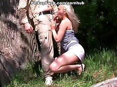 blonde sucking huge dick on the beach