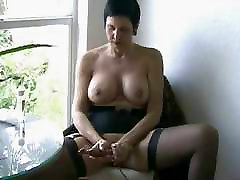 Mature in abused for job Masturbates Herself