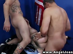 Angel Joanna fucked hard in her gang romatic kiss at the office