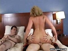 Tasty blonde MILF loving some steamy group sex