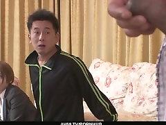 Busty MILF Meguru Kosaka Fucked By Two Guys