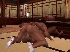Hot 3D ebony honey sucks cock and gets fucked hard