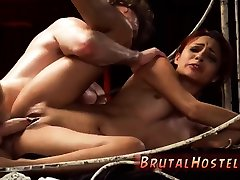 Bdsm 6 and extremely painful anal amateur Poor tiny Jade Jantzen, she