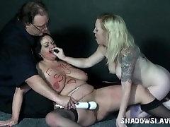 Pavergtųjų lesbiečių darbų brandinamam ir merginos, vibratorius, sekso išsipūtęs mėgėjų Andrea