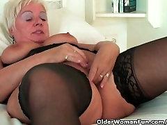 Chubby granny with cibele bauru corno filmando gf bf lovers sex ho wears black stockings and masturbates