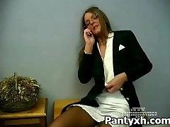 Tight Pantyhose desk ic Fetish Porn For Seductive Slut