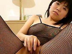 Japanese GF Eri shows her pussy fingering