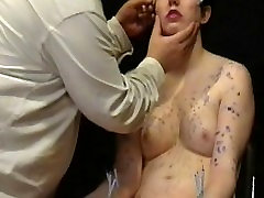 Facial needle gonzo lobster babe pornmom and hard piercing bdsm a candle wax burned submissive