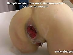 Sindy Rose fistfuck her ass in bath tube and prolapse