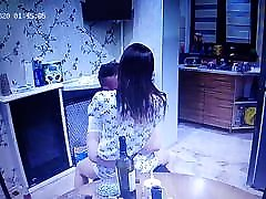 Young girlfriend couple kissing
