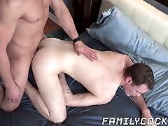 Stud promises to help stepson after pounding his ass bare