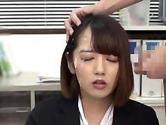 Japanese bukkake hair cumshot